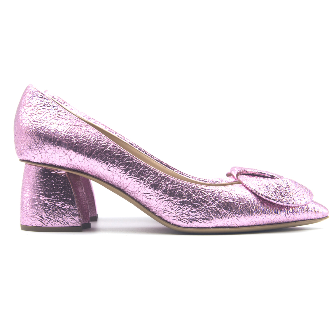 Bubblegum Metallic Heels
