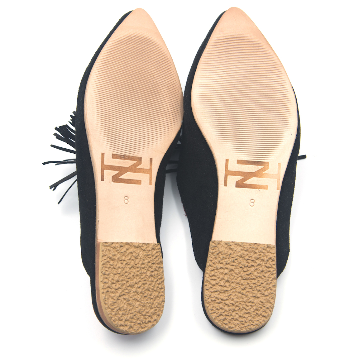 The Wardrobe Workshop x Zwina Habibi Exclusive Black Suede Tassel Shoes