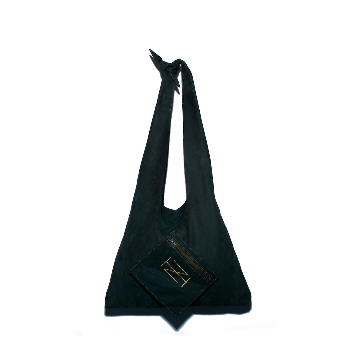 The Wardrobe Workshop x Zwina Habibi Dark Green Knot Tote