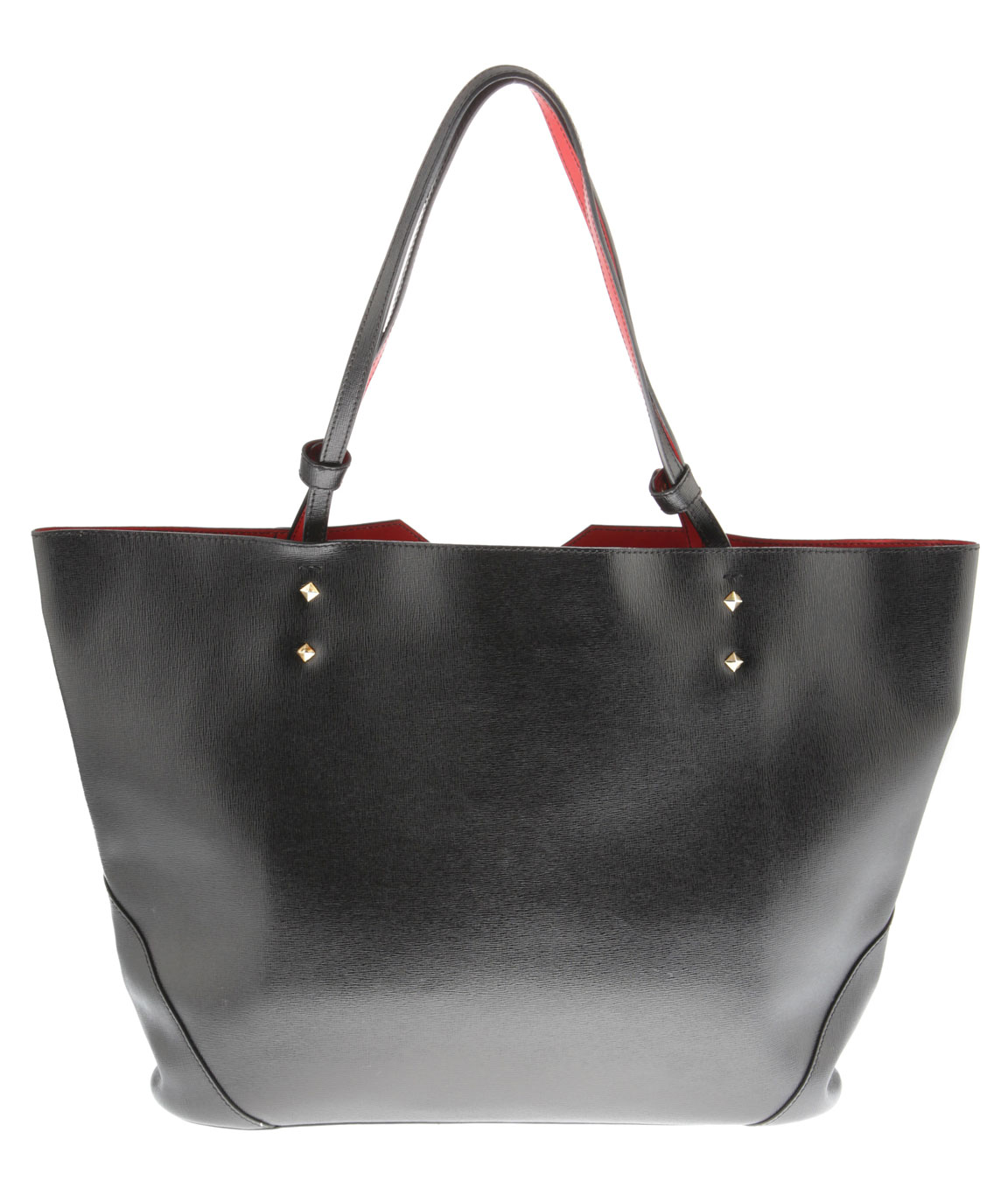 Veronica Tote in Black Saffiano Leather